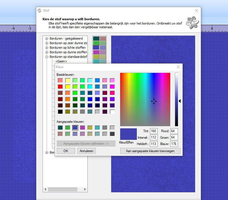 Andere kleuren kiezen