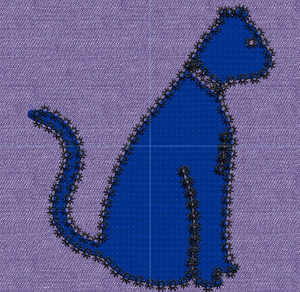 Geappliqueerde kat