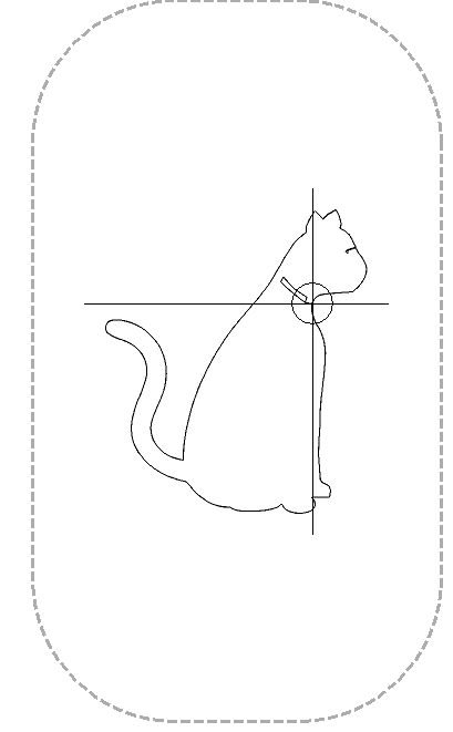 Alleen de lijnen van de kat