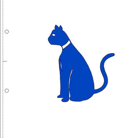 Kat gespiegeld