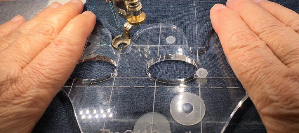 Quilt-along deel 5, clamshells met ruler