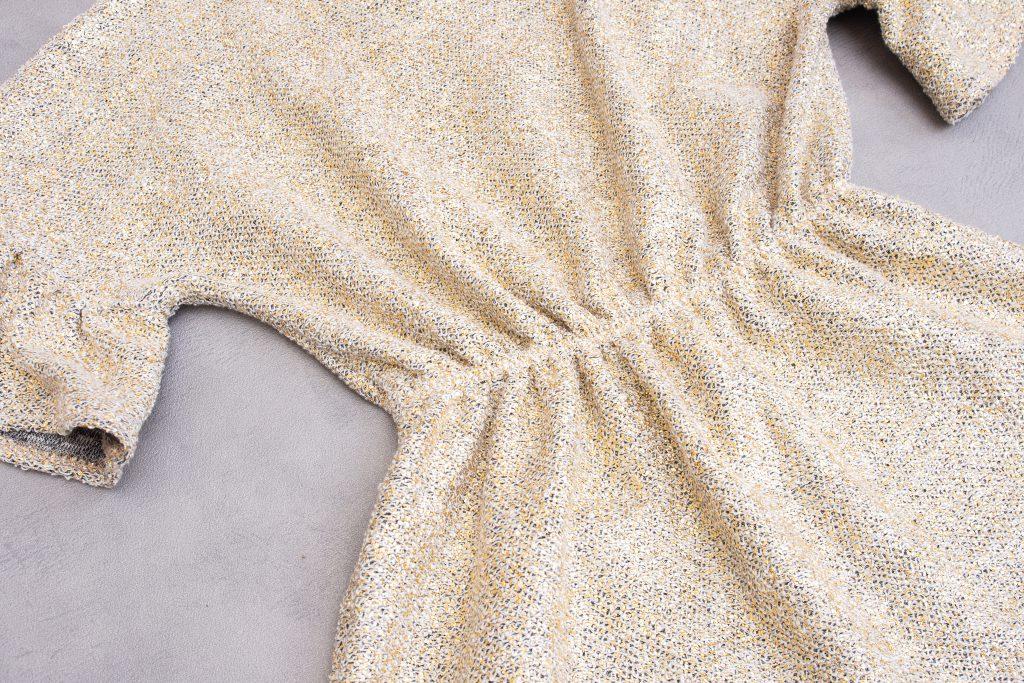 teddy jurk ruffles taille-elastiek