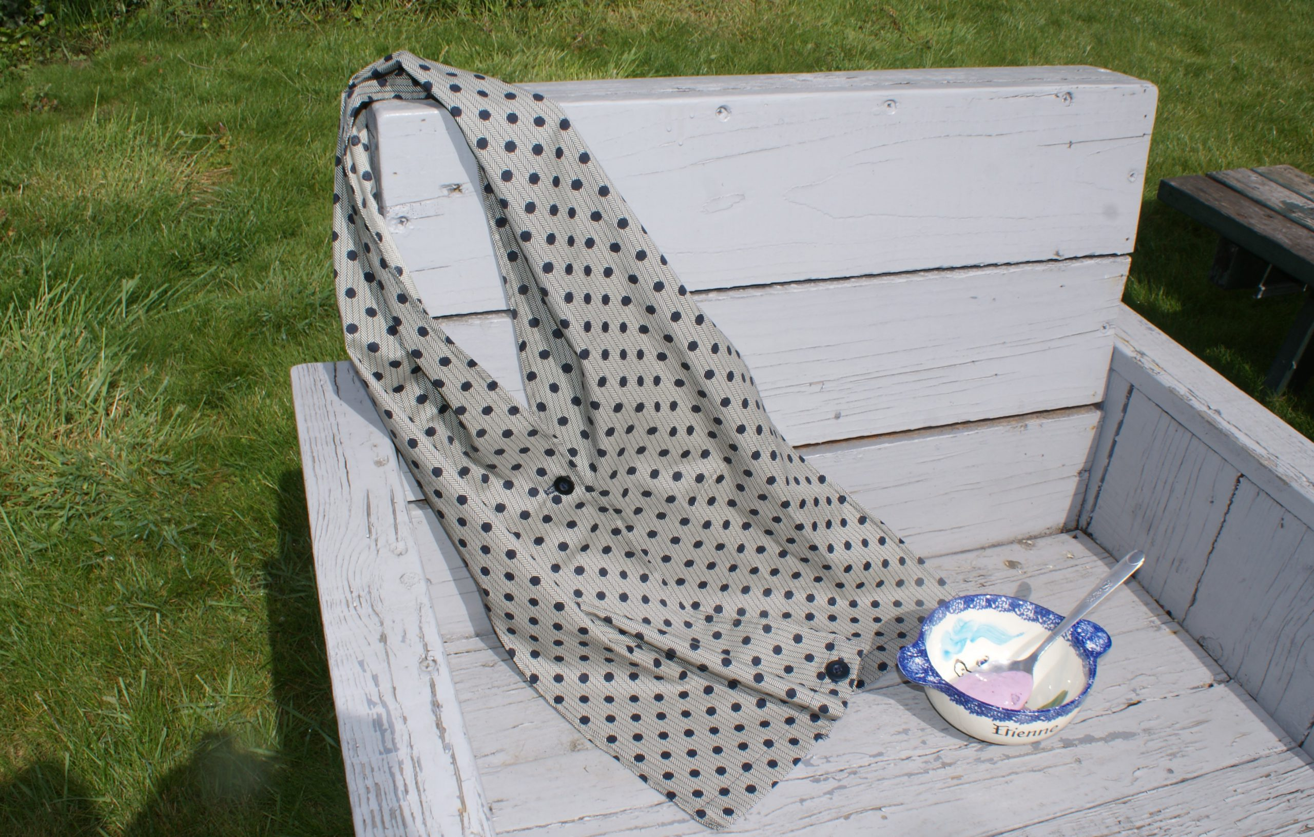 Een sjaal naaien als slab voor volwassenen