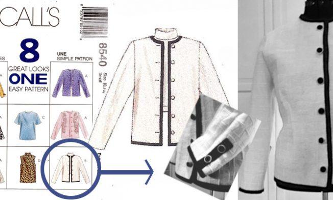blog sewingchanel white jacket Mc Calls 8540