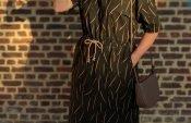 Pattern hack Fons shirt Senna skirt with Bernina L850
