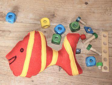 Sew a softie knuffel naaien met kinderen Fishee