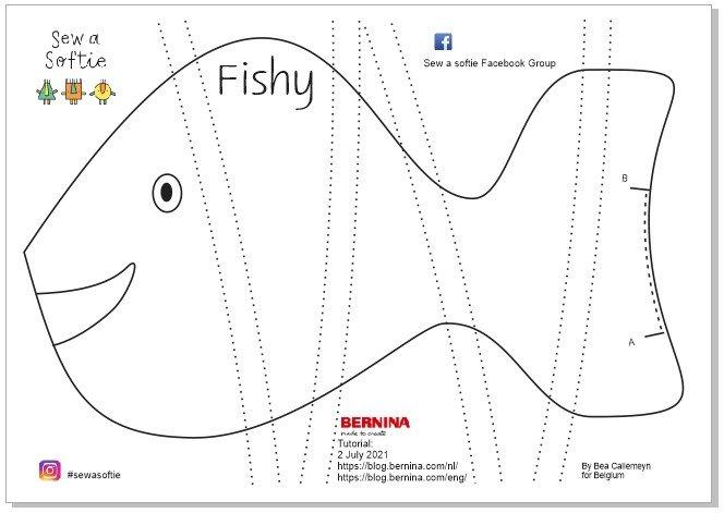 Sew a softie naaien met kinderen Fishy