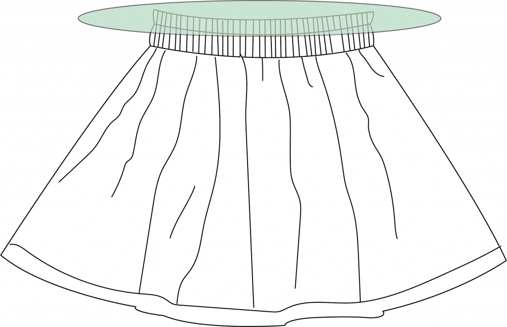 Gratis patroon en tutorial: rokje met paperbag waist