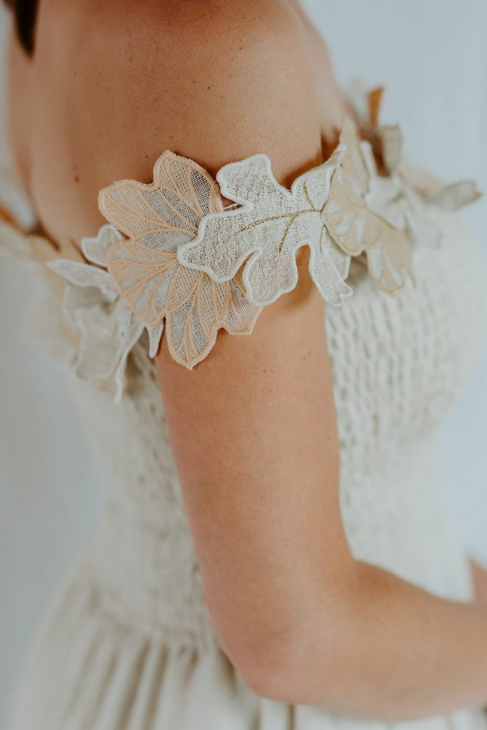 trouwjurk naaien - details