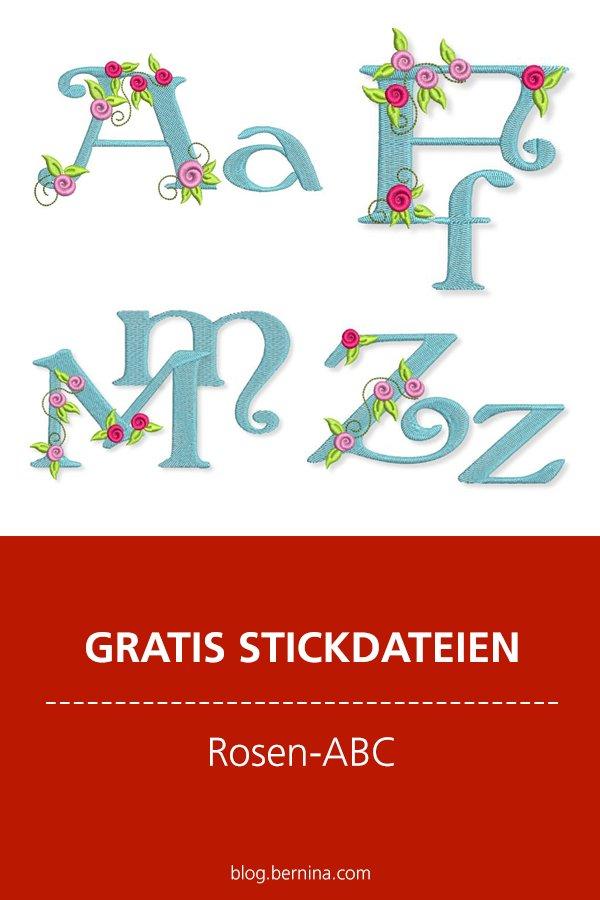 Gratis Stick-Datei: Rosen-ABC