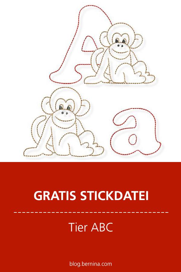 Gratis Stick-Datei: Tier ABC