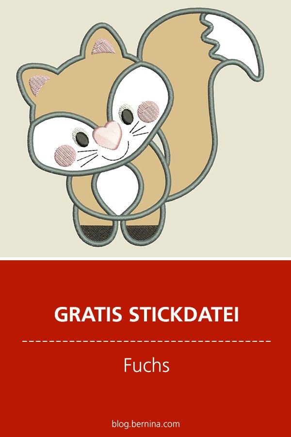 Gratis Stick-Datei: Fuchs