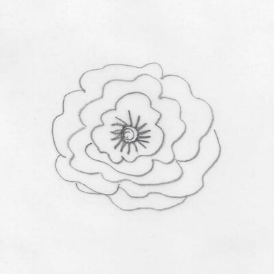 Bernina Freihandquilten Blume