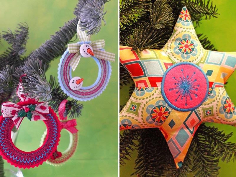 Nähanleitungen zu Weihnachten: Zauberhafte Deko für den Weihnachtsbaum