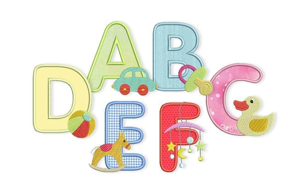 Alle kostenfreien Stickdateien aus dem Baby-ABC