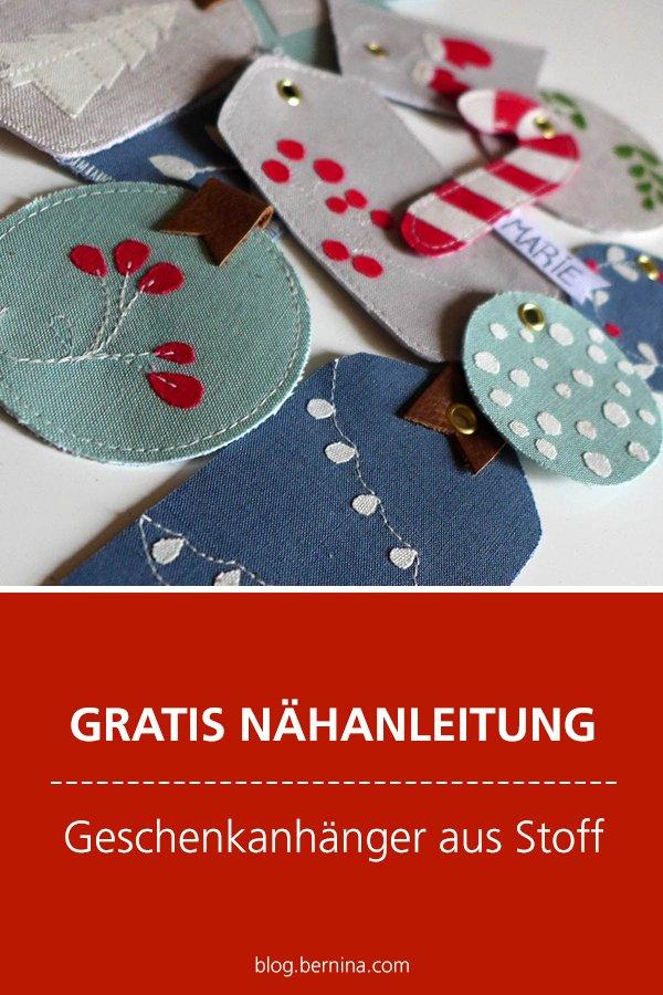 Kostenlose Nähanleitung: Geschenkanhänger aus Stoff