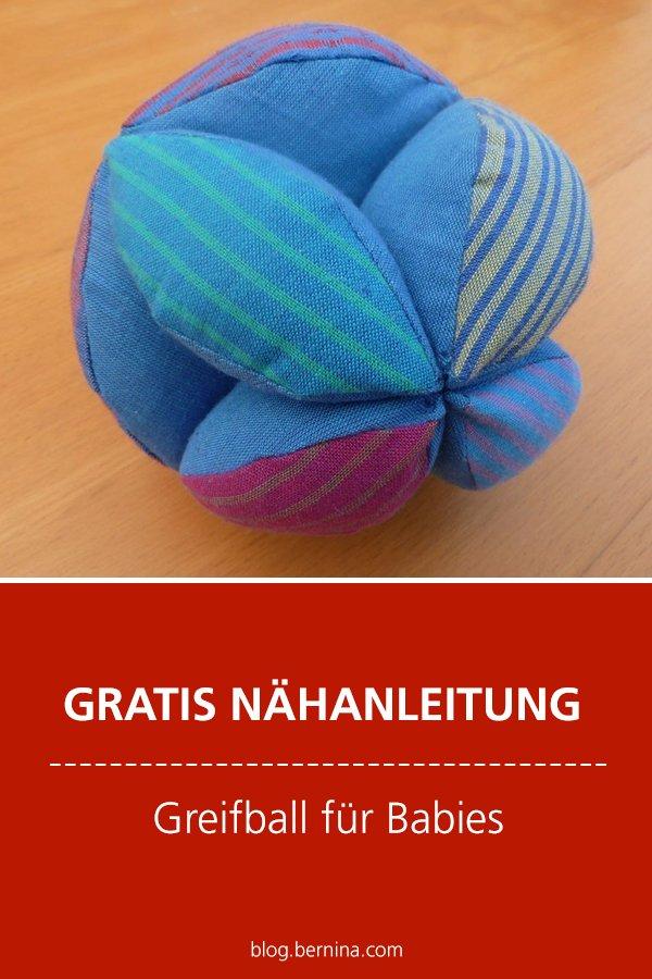 Kostenlose Nähanleitung: Greifball für Babies nähen
