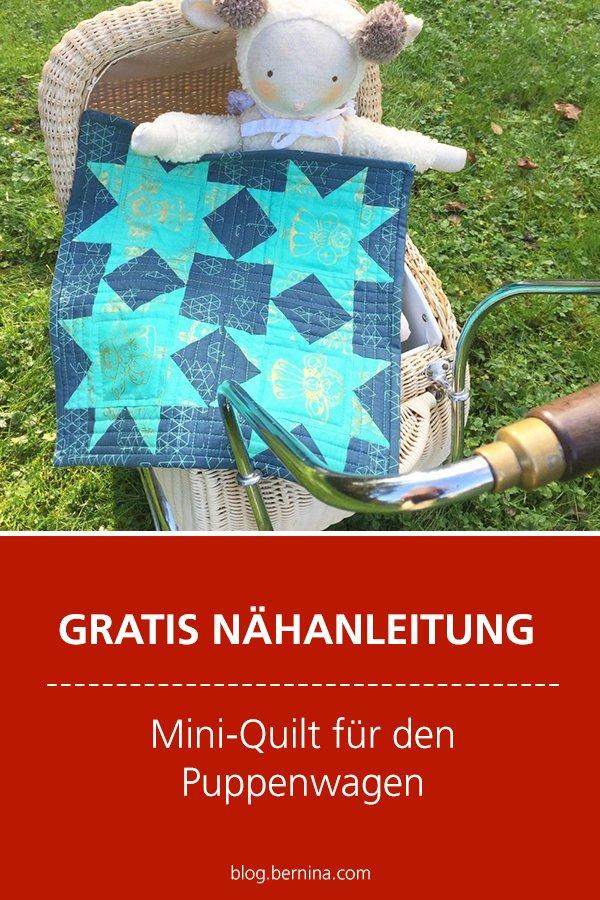 Kostenlose Nähanleitung: Mini-Quilt für den Puppenwagen