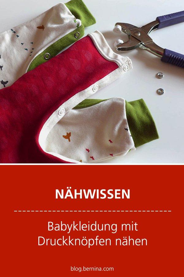 Nähwissen & Tutorial: Babykleidung mit Druckknöpfen nähen