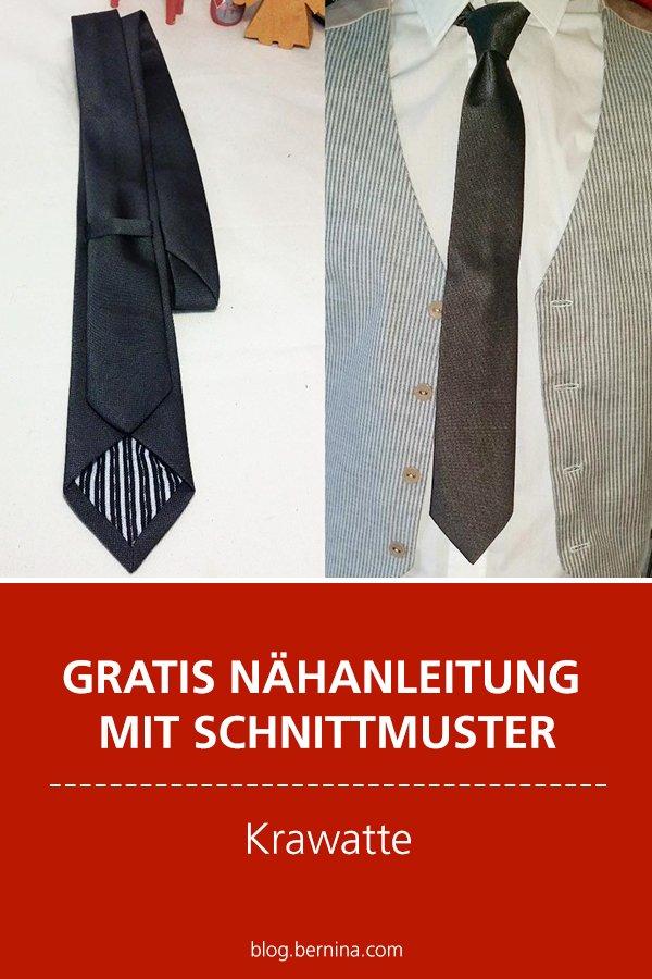 Kostenlose Anleitung mit Schnittmuster Freebie: Krawatte nähen