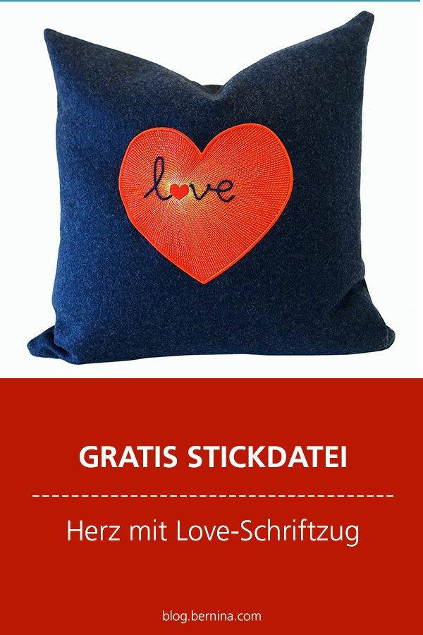 Gratis Stick-Datei: Herz mit Love-Schriftzug