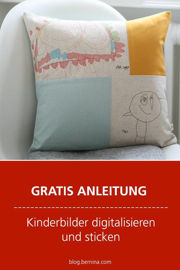Kostenlose Anleitung: Kinderzeichnungen digitalisieren und sticken