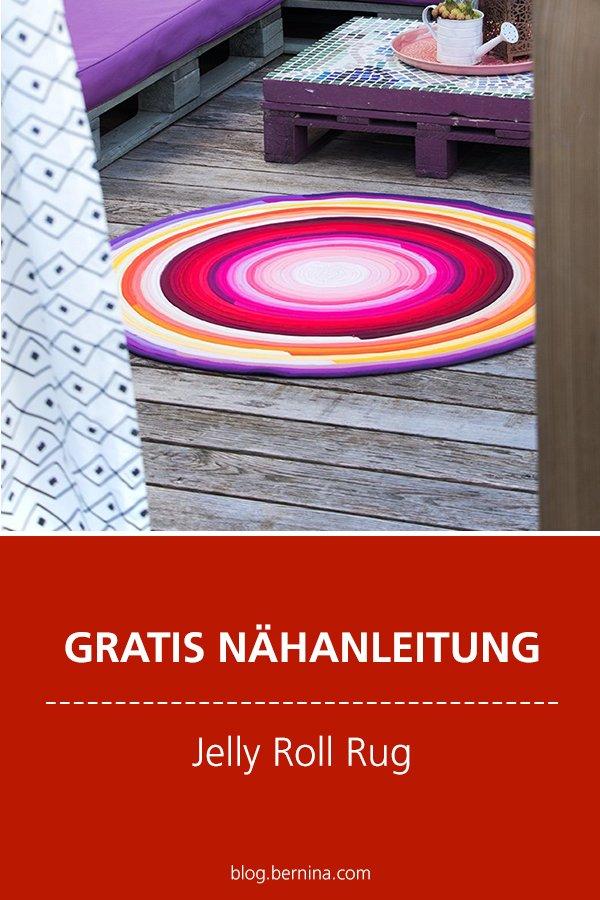 Kostenlose Nähanleitung: Jelly Roll Rug