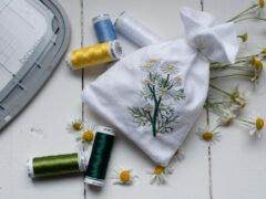 Ein Kamille-Duftsäckchen einfach selber besticken - bernette - Selbermachen macht glücklich