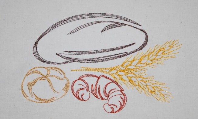 Brotbeutel Stickerei