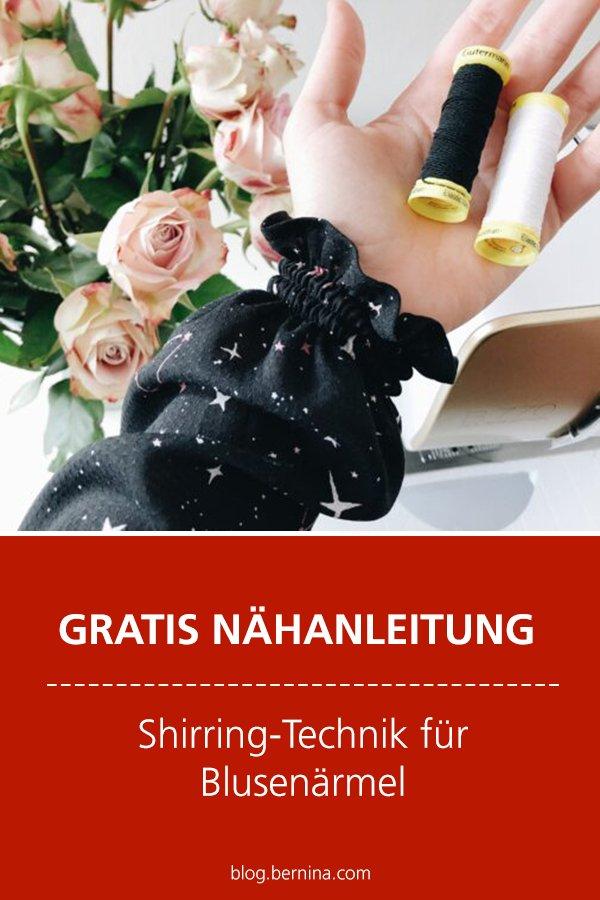 Kostenlose Nähanleitung: Shirring-Technik für Blusenärmel