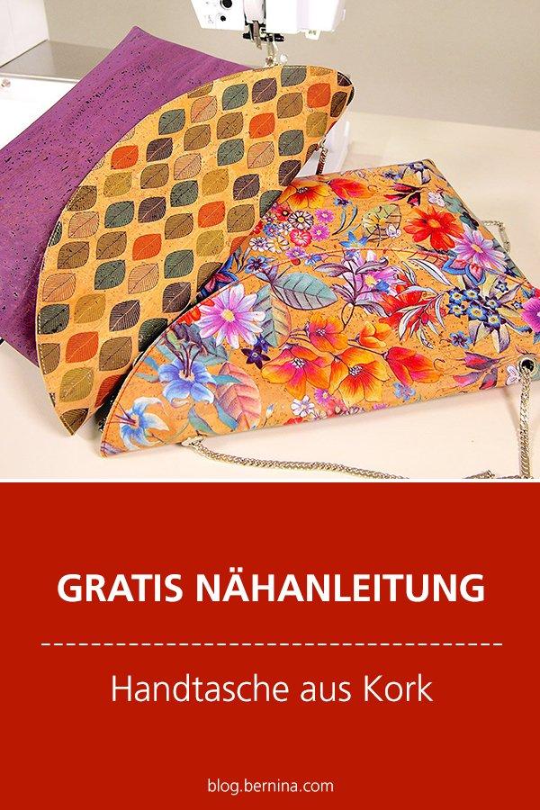 Kostenlose Video-Nähanleitung (Freebook): Handtasche aus Kork mit Taschenkette