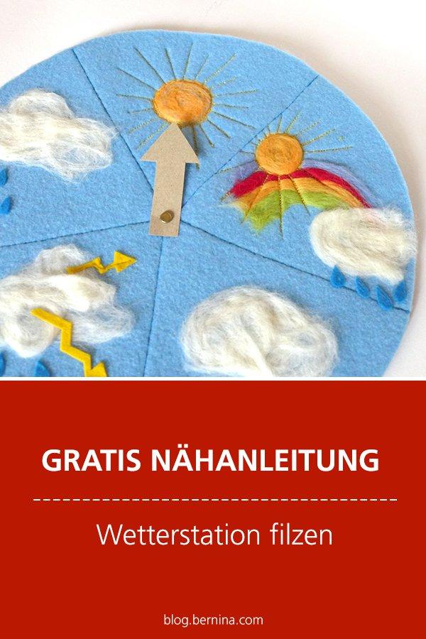 Kostenlose Nähanleitung: Wetterstation für Kinder filzen (PunchWork-Tool)