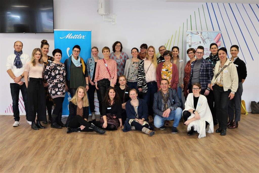 Gruppenfoto aller Teilnehmenden des Mettler Blogger-Events
