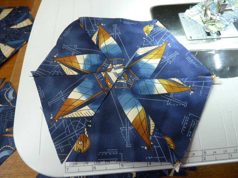 Quilt aus Dreiecken nähen