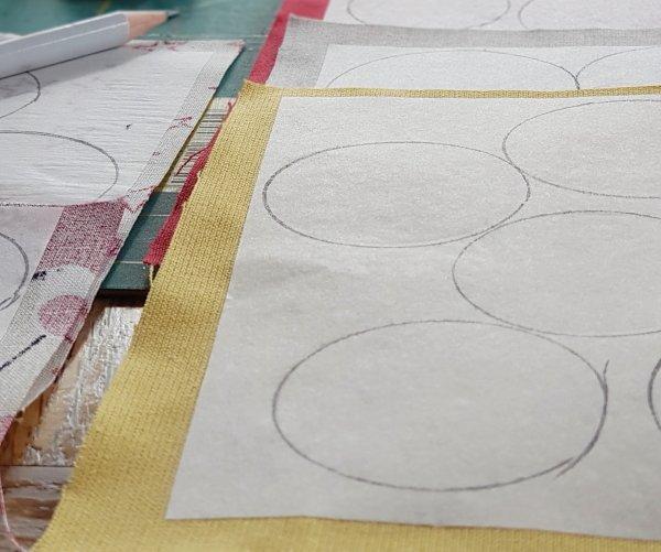 Die Kreise für den Tannenbaum vorbereiten