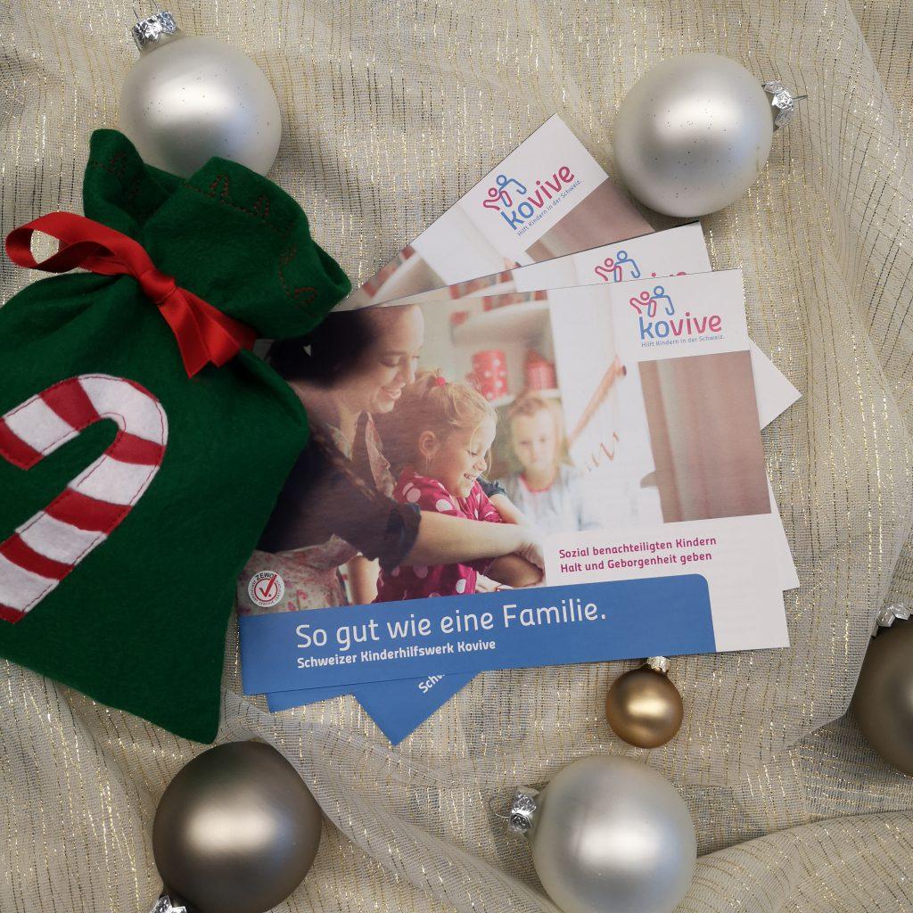 genähtes Weihnachts-Säckli mit Kovive