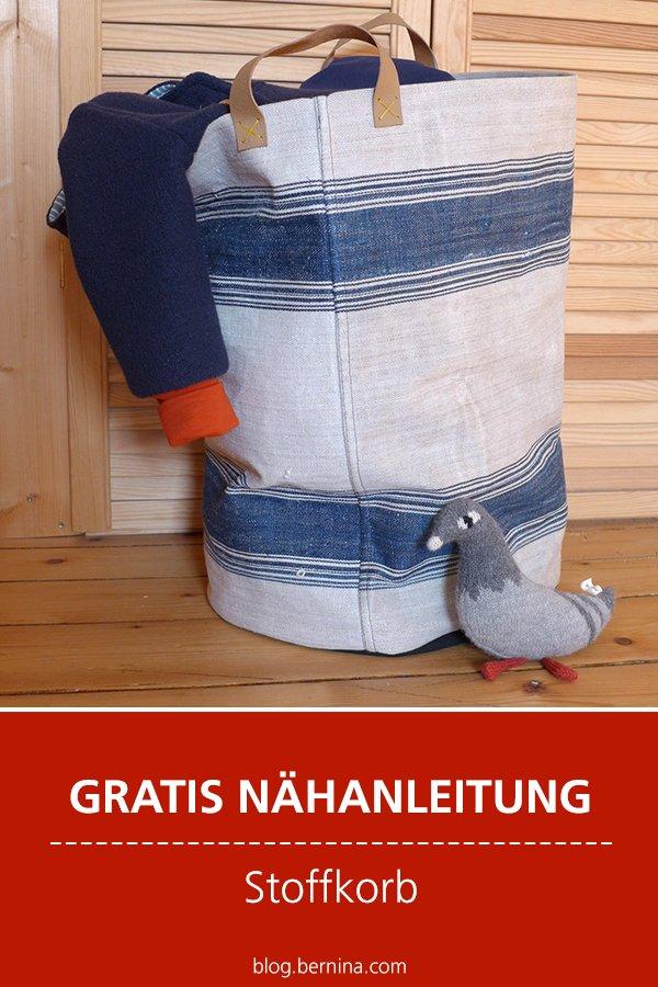 Kostenlose Nähanleitung: Stoffkorb fürs Kinderzimmer