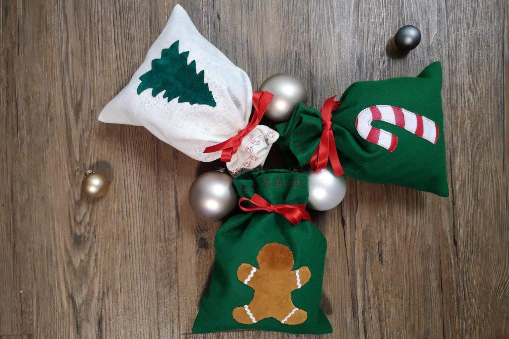 Weihnachts-Säckli am Boden