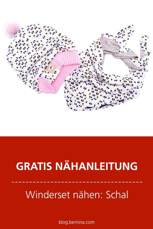 Kostenlose Nähanleitung: Winterset - Schal nähen