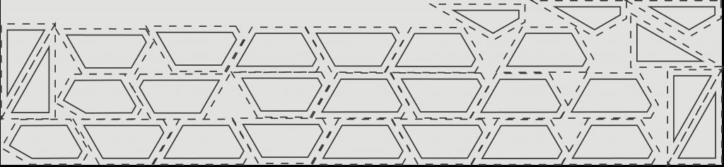 Schnittschema für Hintergrundstoff Silber