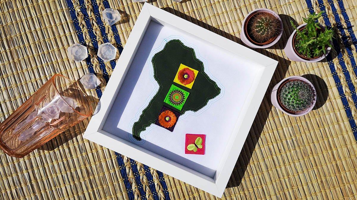 Fotorahmen Südamerika