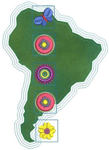 Kontinent verzieren