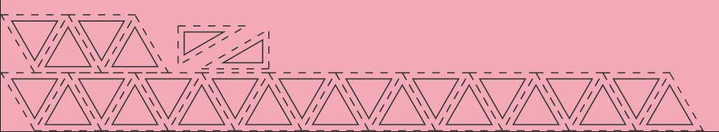 Schnittschema für den Hauptstoff Medium Pink