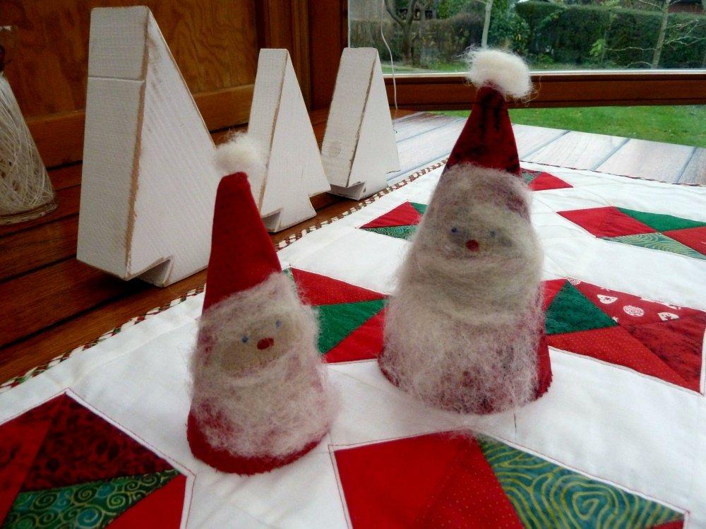 Nikolaus in Tütenform, nähen