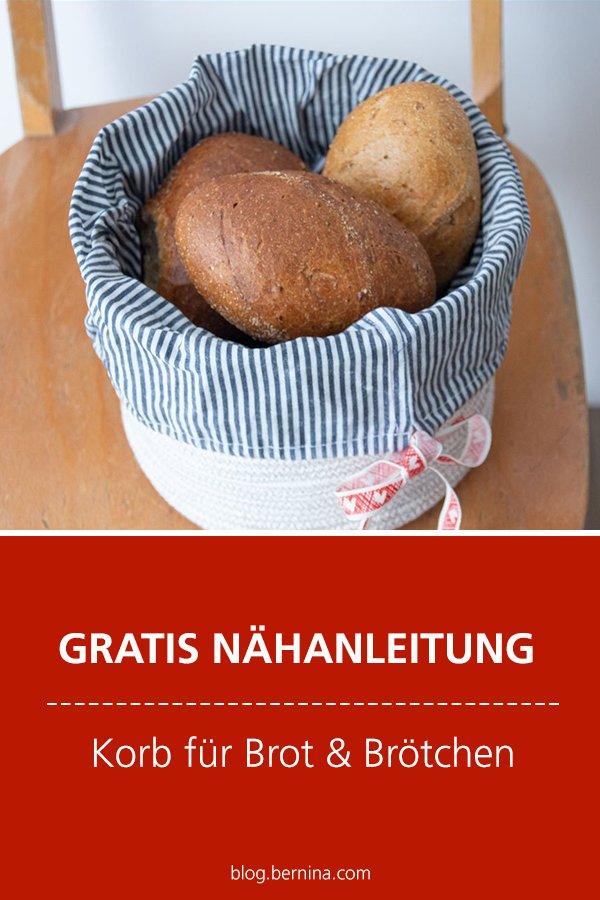 Kostenlose Nähanleitung: Korb für Brot & Brötchen