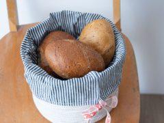 Kostenlose Anleitung: Korb für Brot & Brötchen nähen