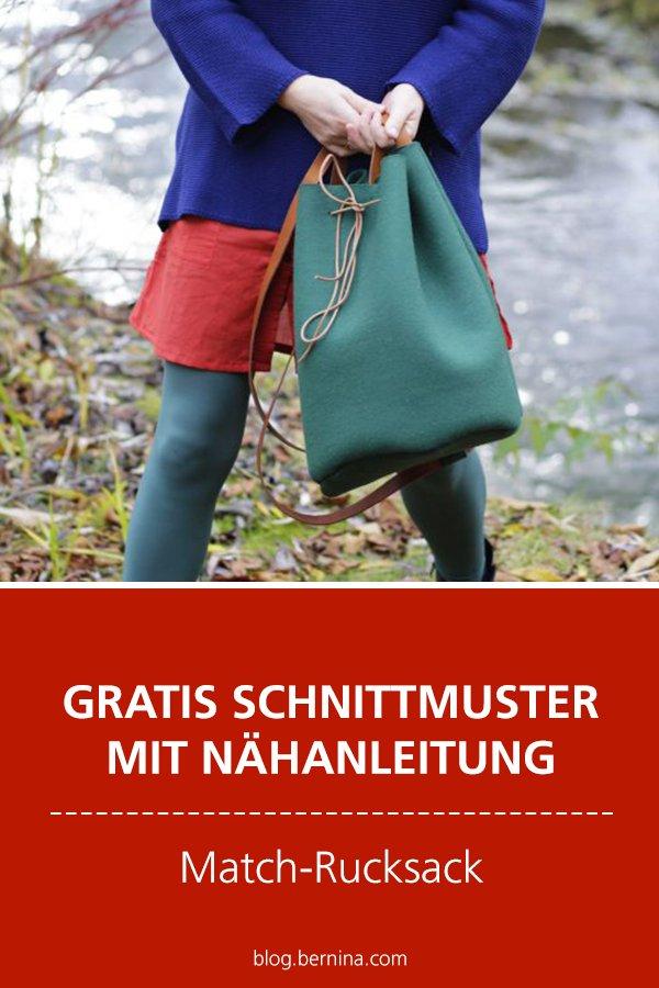 Gratis Schnittmuster mit Nähanleitung (Freebook): Rucksack nähen