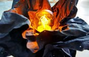 Upcycling-Projekt: Lampe aus nachhaltigen Lederpapieren