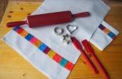 Upcycling-Nähprojekt: Patchwork-Geschirrtuch aus Stoffresten nähen