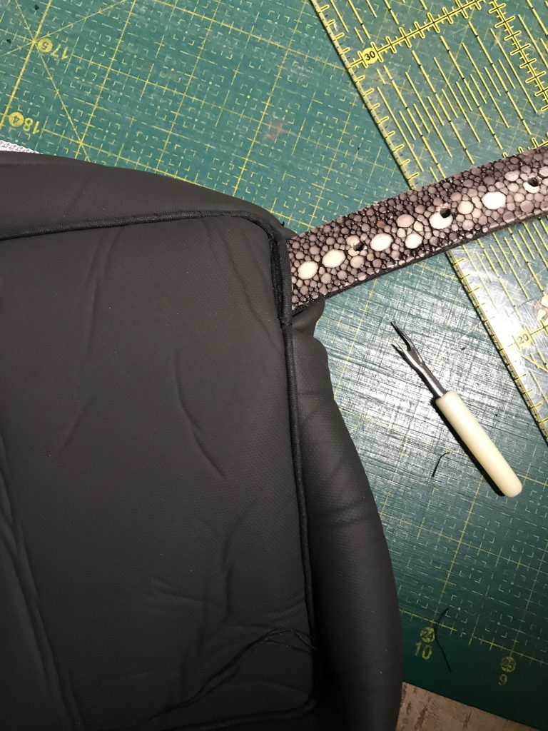 Scuba-Stoff nähen: Tasche mit Gürtel